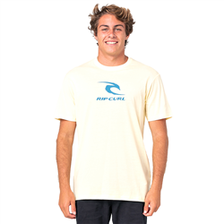 Rip Curl Icon Used T-Shirt - Pale Yellow