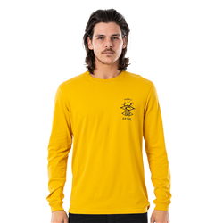 Rip Curl Search Essential Long Sleeved T-Shirt - Mustard