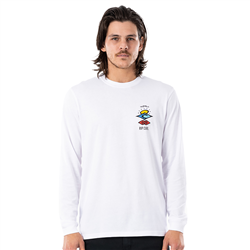Rip Curl Search Essential Long Sleeved T-Shirt - White