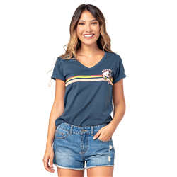 Rip Curl Golden State V-Neck T-Shirt - Navy
