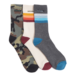 Rip Curl Art Party 3 Pack Socks - Mixed