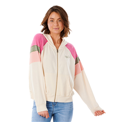 Rip Curl Shore Side Zipped Hoody - Off White