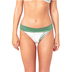 Rip Curl Coast Palms Rollup Bikini Bottoms - White