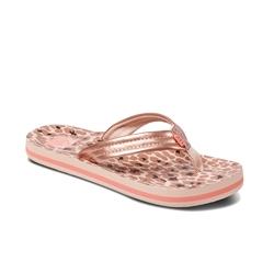 Reef Kids Ahi Flip Flops - Cheetah