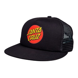 Santa Cruz Classic Dot Mesh Back Cap - Black & Black
