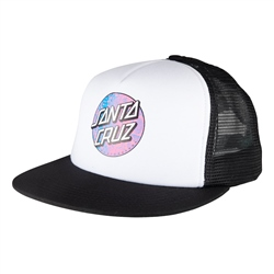 Santa Cruz Scales Dot Mesh Back Cap - White & Black