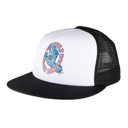 Santa Cruz Screaming Hand Mesh Back Cap - Black & White