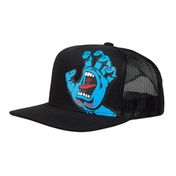 Santa Cruz Youth Screaming Hand Snapback Cap - Black
