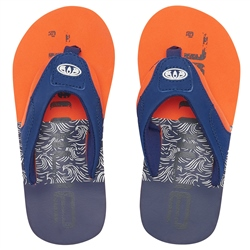 Animal Jekyl Logo Flip Flops - Firecracker Orange