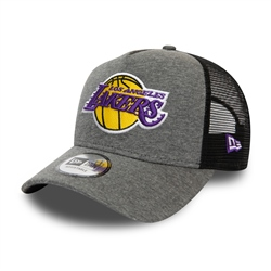 New Era Los Angeles Lakers Jersey Trucker Cap - Grey Heather
