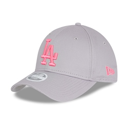 New Era Los Angeles Dodgers League 9Forty Cap - Dolphin Grey & Pink