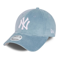 New Era New York Yankees Cord 9Forty Cap - Sky Blue & White