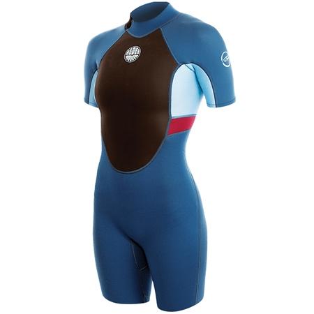 Alder Impact Shorty Wetsuit - Blue & Black  - Click to view a larger image