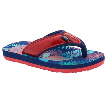 Animal Swish Glitz Flip Flops - Multicolour  - Click to view a larger image