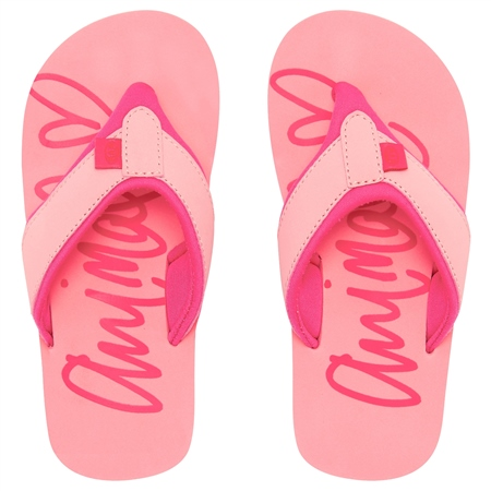 Animal Swish Logo Flip Flops - Sugary Pink  - Click to view a larger image
