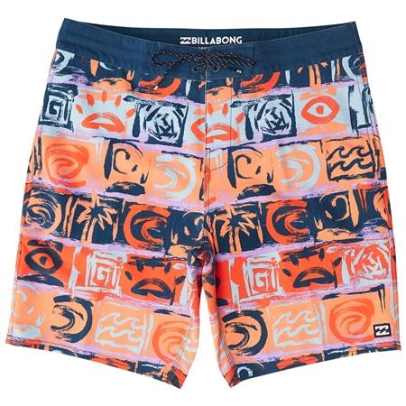 Billabong Sundays Lo Tides Boardshorts - Orange  - Click to view a larger image