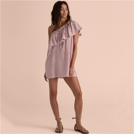 Billabong Right Minded Dress - Red Clay  - Click to view a larger image