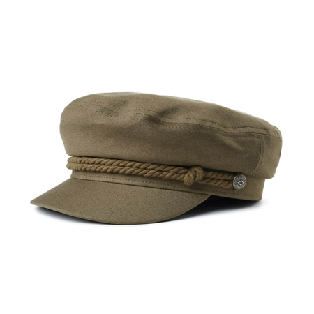 Brixton Fiddler Cap - Olive  - Click to view a larger image