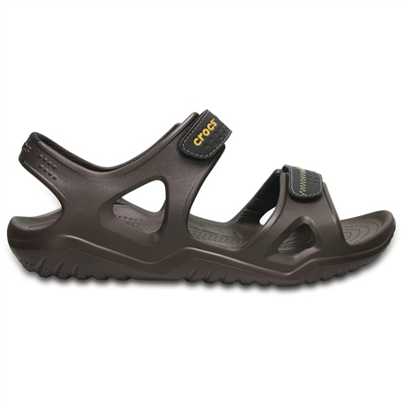 Crocs Swiftwater River Sandals - Espresso & Black  - Click to view a larger image