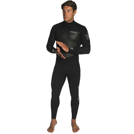 C-Skins Legend 3/2mm Wetsuit - Black & Grey  - Click to view a larger image