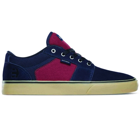 Etnies Barge Shoes - Navy & Red  - Click to view a larger image