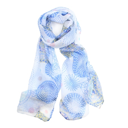 F & J Collection XS2341 Scarf - Blue  - Click to view a larger image