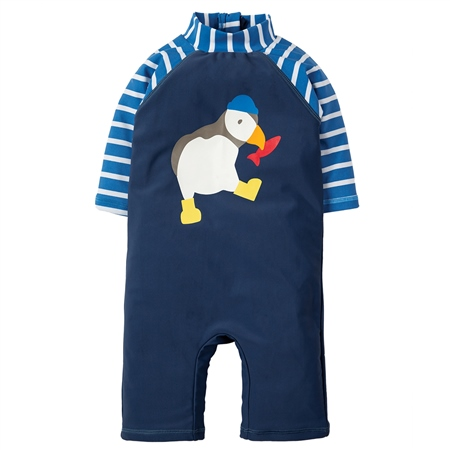 Frugi Lil Sun UV Babygrow - Puffin  - Click to view a larger image