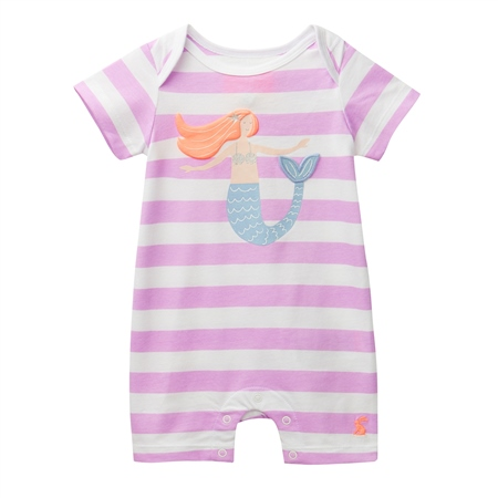 Joules Mindy Babygrow - Mauve  - Click to view a larger image