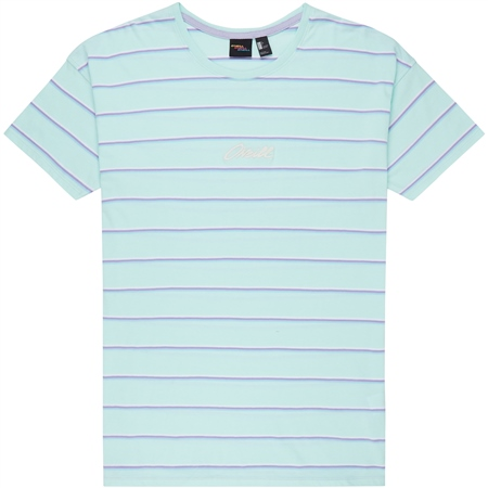 O'Neill Striped Wow T-Shirt - Green  - Click to view a larger image
