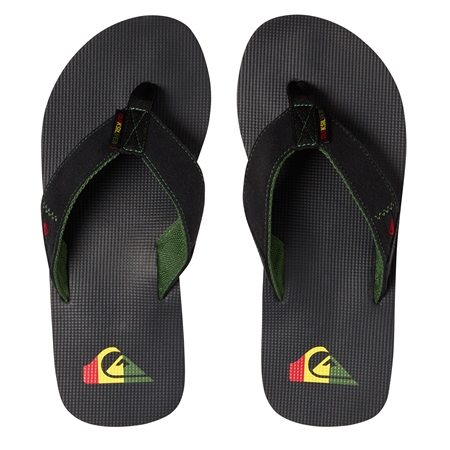 Quiksilver Molokai Abyss Flip Flops - Green & Black  - Click to view a larger image