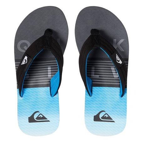 Quiksilver Molokai Layback Flip Flops - Grey & Blue  - Click to view a larger image