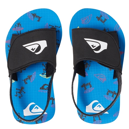 Quiksilver Molokai Layback Slider - Black & Blue  - Click to view a larger image