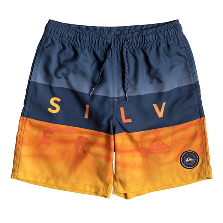 """Quiksilver Word Block 15"""" Swim Shorts - Blue  - Click to view a larger image"""