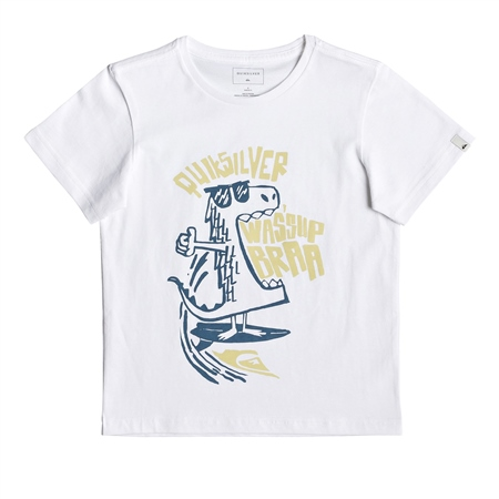 Quiksilver Wasup Dino T-Shirt - White  - Click to view a larger image