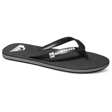 Quiksilver Molokai Flip Flops - Black & White  - Click to view a larger image