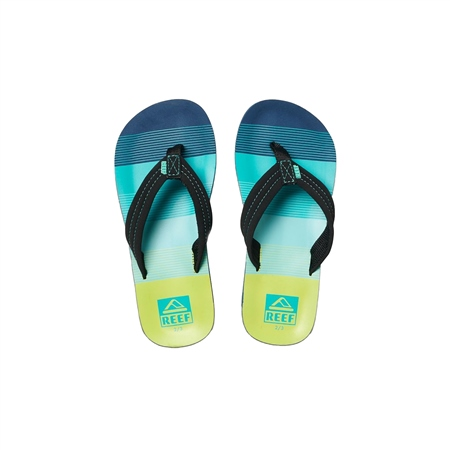 Reef Kids Ahi Flip Flops - Aqua & Green  - Click to view a larger image