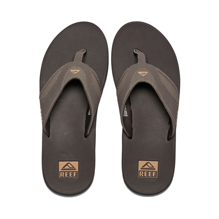 Reef Fanning Flip Flops - Brown & Gum  - Click to view a larger image