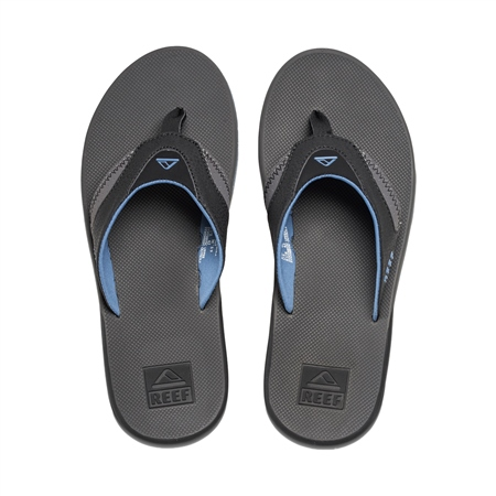 Reef Fanning Flip Flops - Grey & Blue  - Click to view a larger image
