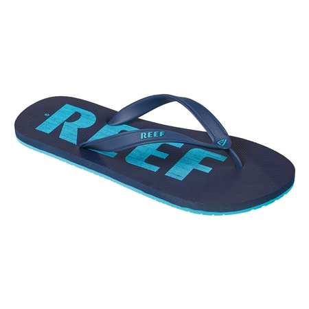 Reef Switchfoot Print Flip Flops - Blue  - Click to view a larger image