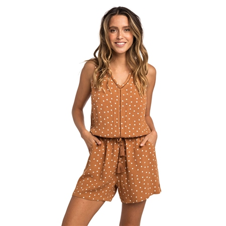 Rip Curl Havana Club Playsuit - Brown  - Click to view a larger image