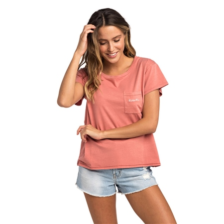 Rip Curl Sunset Beach T-Shirt - Rose  - Click to view a larger image