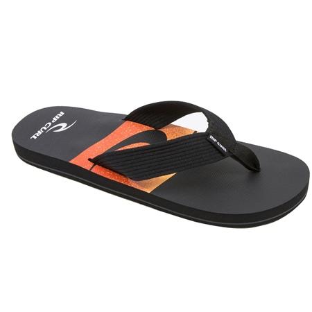 Rip Curl Bob Cush Flip Flops  - Black & Orange  - Click to view a larger image