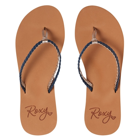 Roxy Costas Flip Flops - Navy  - Click to view a larger image