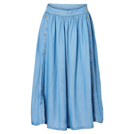 Vero Moda Mia Skirt - Light Blue Denim  - Click to view a larger image