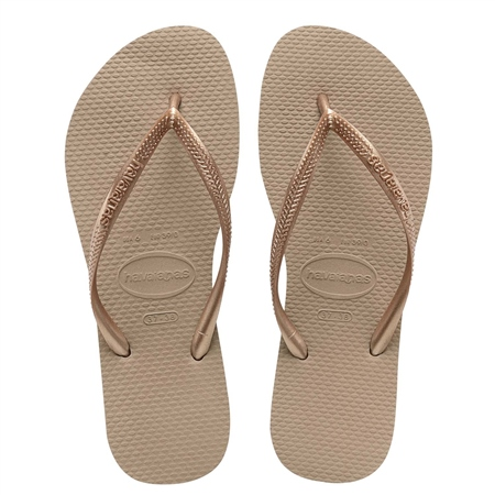 Havaianas Slim Flip Flops - Rose Gold  - Click to view a larger image