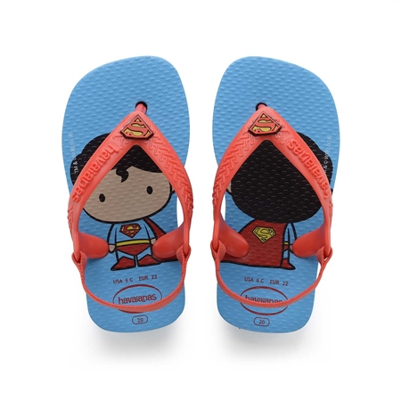 Havaianas Hero Flip Flops - Turquoise & Strawberry  - Click to view a larger image