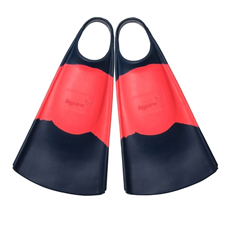 Hydro O.G. Fins - Navy & Coral  - Click to view a larger image