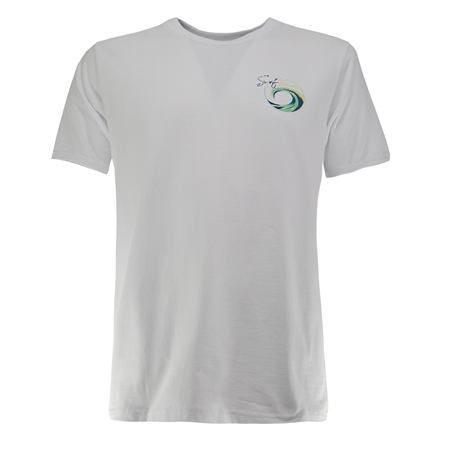 Salt Water Seeker Mens SCWL T-Shirt - White  - Click to view a larger image