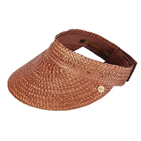 Seafolly Roll Up Visor - Brown  - Click to view a larger image
