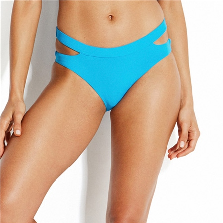 Seafolly Active Split Hipster Bikini Bottoms - Blue  - Click to view a larger image